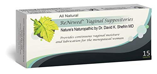 Bezwecken – Nature's Naturopathic ReNewed Vaginal Suppositories – 15 Suppositories – Professionally Formulated to Replenish Vaginal Moisture – Safe, Natural & Estrogen–Free