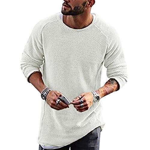 롱비다 남성 스웨터 니트 풀오버 백기 크루넥 캐주얼 롱 슬리브 힙합 솔리드 컬러