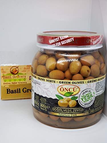 Oncu Starched Green Olive Salamura Cizik Zeytin Product of Turkey 1600gr