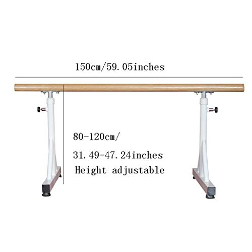 Wall Sculptures Ballet Equipment The double ballet bar, Ballet Fitness Stretch Dance Bar Ballet Barre Portable for Home Adults and student, Adjustable, White Double Ballet Bar 150 * 80cm