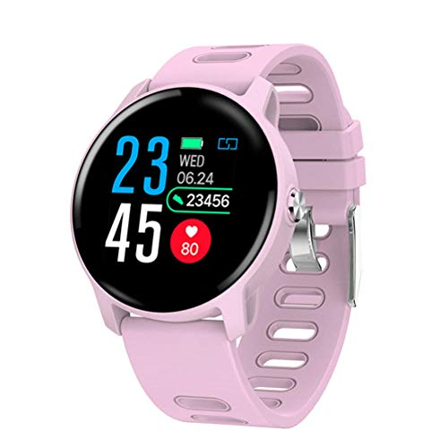 KYLN Smart Watch Ip68 Monitor de frecuencia cardíaca a Prueba de Agua smartwatch Bluetooth Smartwatch Activity Fitness Tracker Band-Pink