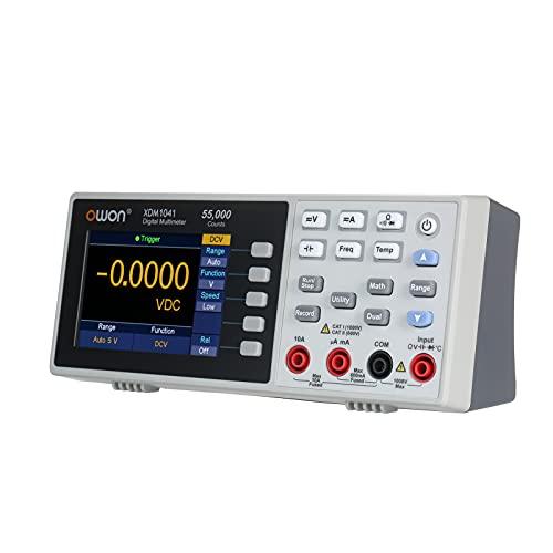 Multímetro Digital de alta Precisión,Meroteen 55,000 Counts de Medidor universal con pantalla TFT LCD de 3.7 pulgadas con retroiluminación,Amperímetro multifuncional de Voltaje...