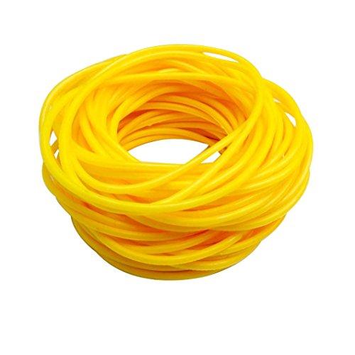 keland 50P Gummi Silikon Armbänder Armbänder Bänder Shag Rubber Gummies Bangles Wristbands (Gelb)