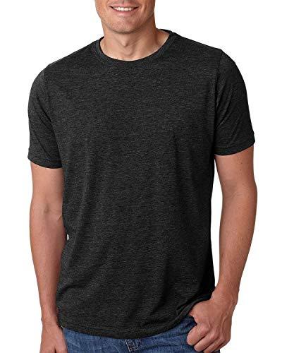 Next Level Mens Poly/Cotton Short-Sleeve Crew Tee (6200) Black XL