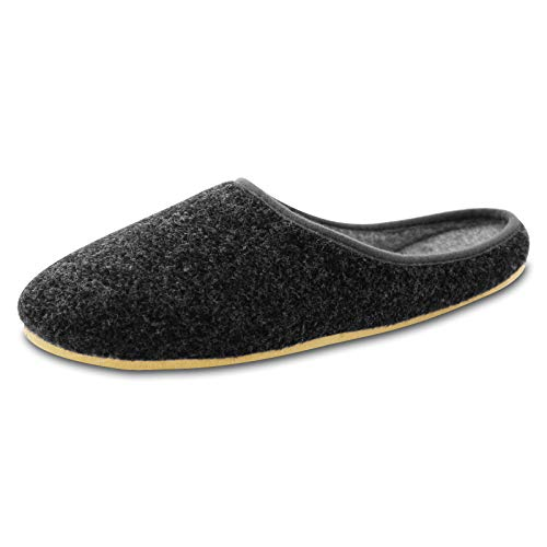 OLShop AG Herren Anthrazit Filz Pantoffeln mit Gummisohle Gr. 45