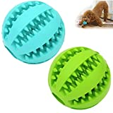2 Pack Dog Toy Ball,Nontoxic Bite Resistant Teething Toys Balls for...