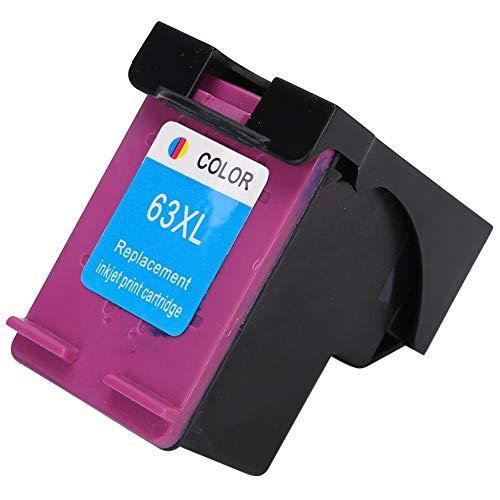 Caja de tinta, cartucho de tinta, oficina de impresora rellenable para la escuela HP63 2130 3630 4520 4650(New version 63XL color)
