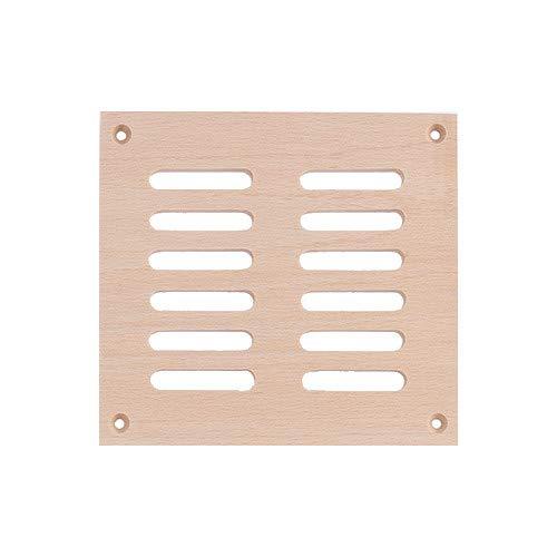 eliga Lüftungsgitter aus Holz, für circa 40 cm² Luftdurchlass