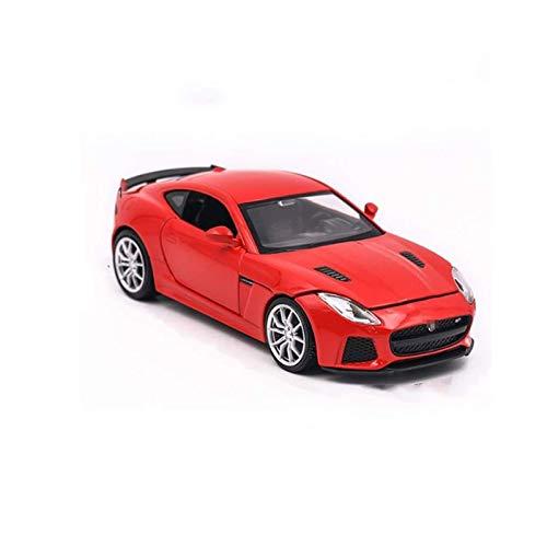 Diecast Modelo Simulación de automóviles 1:32 Aleación para Jaguar para el modelo de tipo F F-Type Sports Modelo T-OY Metal Metal Die Light Sound Light Pull Back Collection de regalo de los niños (Col