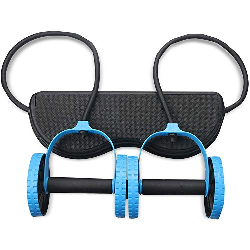 Serenily Multifunctional Ab Roller Wheel - Double Ab Wheel for Home Gym & Abs Workout Equipment. Abdominal Exercise Machine for Core Workout, Body & Ab Roller. Ab Trainer Pilates Wheel for Men & Women