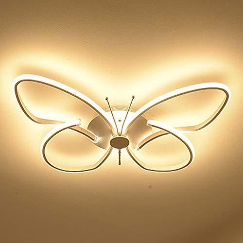 LED Dimmable Avec Télécommande Plafonnier Moderne Créatif Papillon Lampe De Plafond Lampe De Chambre Élégante Lampe Chambre D'enfant Salon Hall Entrée Balcon Lampe De Plafond,Whitel38cm24w