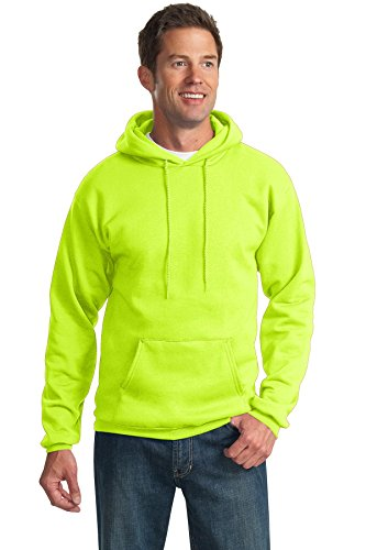 Port & Company Men's Tall Ultimate Pullover Hooded Sweatshirt 2XLT Safety Green