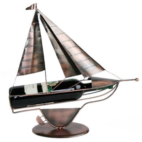 Annastore Flaschenhalter Segelboot kupferfarben L 44 cm
