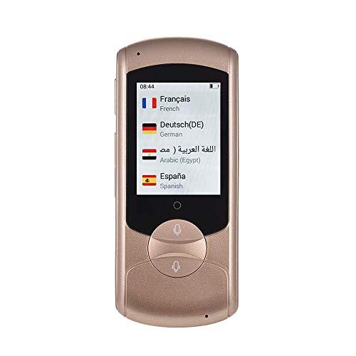 LNLJ Smart languag traduttore Dispositivo Portatile 2,0 Pollici ad Alta Definizione Touch Screen Supporta 41 Lingue Traduzione in Tempo Reale 2.4 G traduttore WiFi,Gold