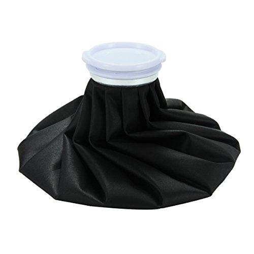 Xcellent Global Bolsa de Tela para Hielo Caliente o Fría de 11 pulgadas Bolsa para Hielo Reutilizable Para Aliviar el Dolor Negro HG098