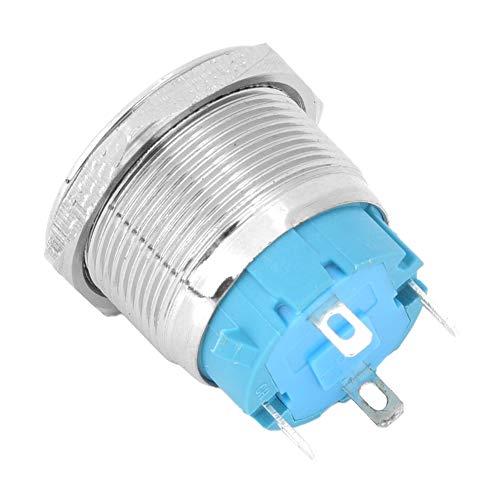 Interruptores de botón Interruptor de botón redondo con señal de luz de encendido 2PCS 3-6VDC para orificio de montaje de 0.9in 1 NO Interruptor de botón(green)