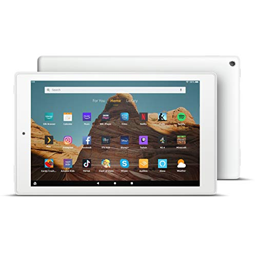 All-new Fire HD 10 Tablet | 10.1 1080p Full HD display, 32 GB, White with Special Offers