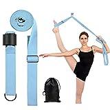 SNΛKUGΛ Adjustable Leg Stretcher Lengthen Ballet Stretch Band - Easy Install on Door Flexibility Stretching Leg Strap Great Cheer Dance Gymnastics Trainer Stretching Equipment, Blue