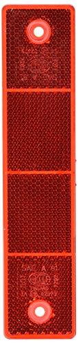 HELLA 8RA 002 023-001 Rückstrahler - Lichtscheibenfarbe: rot - eckig - Anbau/geschraubt - hinten