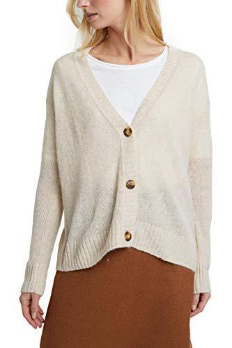 ESPRIT 090ee1i306 Cardigan Sweater Women's, Beige (289/Sand 5), L