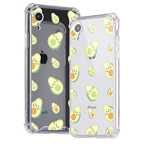 Idocolors Funda para iPhone 7 Plus / 8 Plus Absorcion de Choque Ultra Fina TPU Suave Transparente Carcasa con Cojín de Esquina Parachoques Cover Case Anti-Caída - Aguacate Caso