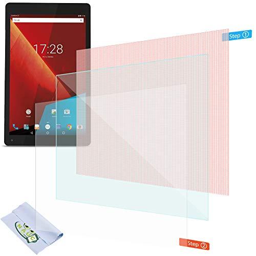 NAUC Bildschirmschutzfolie für Vodafone Tab Prime 7 Schutzfolie 2X klar Universal Bildschirmschutz Folie