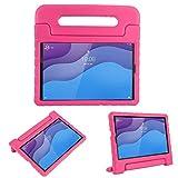 cradle HR Compatible con niños Funda Protectora para Lenovo Tab M10 HD (2nd Gen) TB-X306X/TB-X306F 10.1 Pulgadas 2020 Tablet, EVA Ligera Funda Protectora a Prueba de Golpes (Rose)