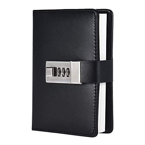 Vida diaria Cuaderno A7 Con Contraseña Bloqueo Diario De Escritura Diario De Diario Planificador Diario Bloc De Notas Organizador Cuadernos Personales Diario De Viaje Artículos De Oficina Registro de