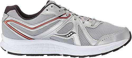 Saucony Men's Cohesion 11 Running Shoe, Silver/Orange, 9 Medium US