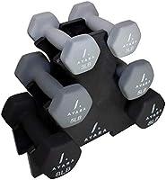 AYARA Set de 6 Mancuernas de Neopreno Hexagonales Premium Para Hombres y Mujeres, Juego de Pesas Para Ejercicio en Casa,...