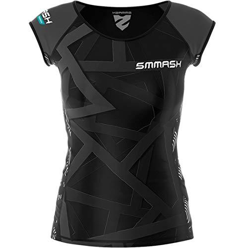 SMMASH X-WEAR VITRAGE Damen Compression T-Shirt, Sport Funktionsshirt für Crossfit, Fitness, Yoga, Gym Fahrrad, Kurzarm Sportshirt, Atmungsaktivees Laufshirt, Sportoberteile (S)