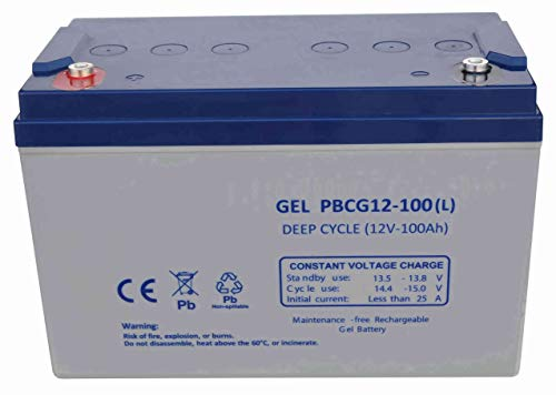 FullBattery Batería Gel Ciclo Profundo 12V 100Ah PBCG12-100L