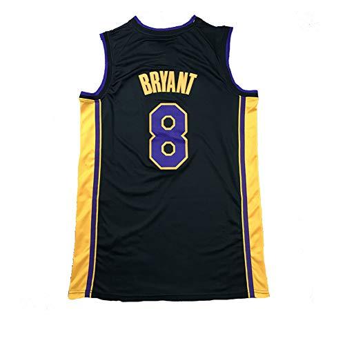DWQ # 8 Bryant Lakers Classic Commemorative Black Mamba Basketball Jersey, Camiseta de Aniversario de edición de Bordado clásico para Hombre (S-XXL) S