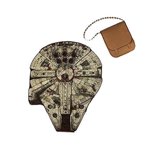 ONIVA - a Picnic Time brand 824-00-214-145-14 Bag Picnic Blanket, Brown with Millenium Falcon Design