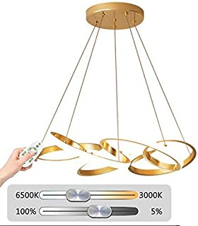 Home Equipment Wall light LED Chandelier Dimmable Droplight Ceiling Light with Remote Control (3000K 6500K) Adjustable Hei...