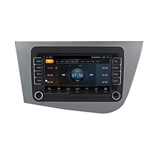 ADMLZQQ para Seat Leon 2005-2012 Android 10 Radio Coche 7 Pulgadas con Bluetooth inalámbrico Incorporado Carplay GPS WiFi AUX USB FM Compatible con Control Volante cámara de Marcha atrás,M100