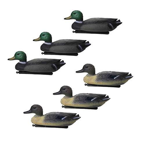 6 PCS Duck Decoy Flotante Señuelo con Quilla Herramientas para La Vida para La Caza Al Aire Libre Accesorios De Piragüismo Kayak