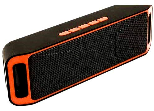 Aerizo POR-208 Bluetooth Sub-Woofer Speaker with FM | Megabass | TF Card Compatible with All Smartphone Device (Random Colour)