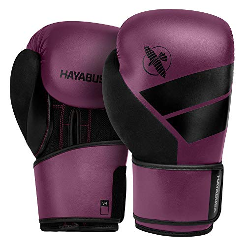 Hayabusa S4 Boxing Gloves for Men and Women - Wine, 14 oz