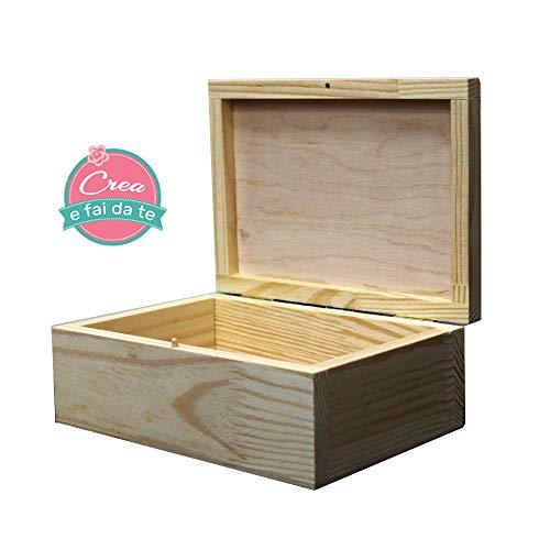 ROSA TALENT houten box 17 x 6,5 x 12 cm opbergdoos, decoupage, schilderen, decoratie, knutselen, kunst