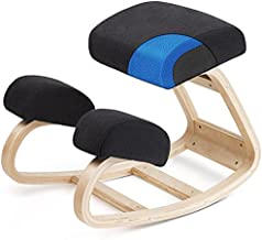 Luxton Memory Foam Ergonomic Kneeling Chair - Posture Support Comfortable Padded Office Desk Chair - Angled Rocking Stool & Balancing Seat - Natural Relief for Neck or Back Pain