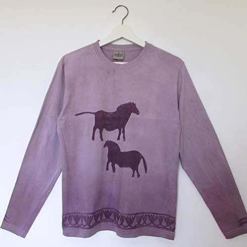 Camiseta algodón púrpura Talla M