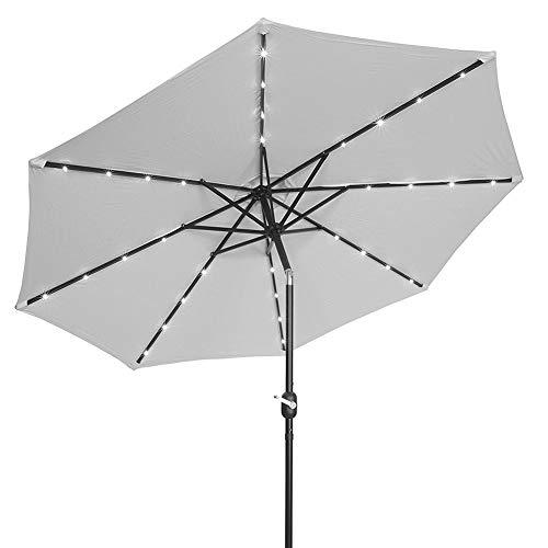 LY88 Parasols 2.5M Crank Zonnelicht Paraplu Markt Patio Outdoor LED Parasols Zelf Opladen LED Tuin Paraplu
