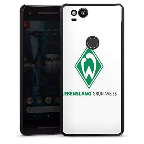 DeinDesign Hard Case kompatibel mit Google Pixel 2 Schutzhülle schwarz Smartphone Backcover SV Werder Bremen Fanartikel Bundesliga