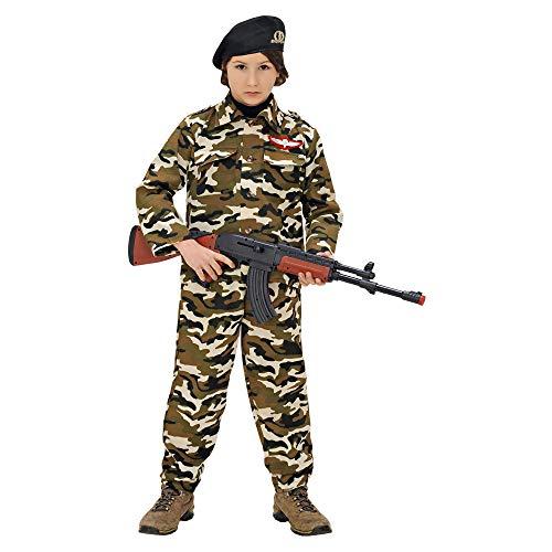 WIDMANN wdm95577?Disfraz para niños soldado (140cm/8?10años), multicolor, XS