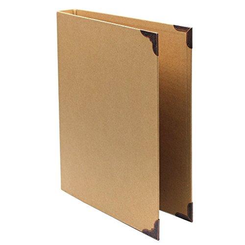 MoMaek 1Pc Kraft Paper 6 ring Binder paper Cover File Folder for A4 A5 B5 Journal NoteBook , 248x314mm (A4 Size Binder Cover)