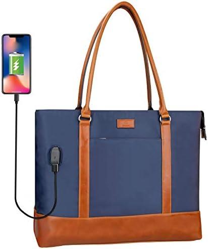Woman Laptop Tote Bag USB Teacher Bag Work Bag Purse Fits 15 6 in Laptop product image