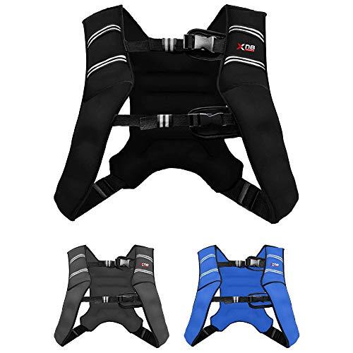 XN8 Verstellbar Gewichtsweste 8kg & 10kg Fitnessweste- Neopren Trainingsweste für Krafttraining- Laufen- Fitness- Muskelaufbau (Schwarz, 5Kg)