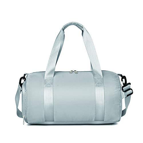 Borsone sportivo da palestra per donne e uomini 25 litri impermeabile yoga fitness scomparto spalla borsa da viaggio, Stile 1, colore grigio. (Grigio) - ZYJSB002-Grey