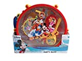 Disney Mickey Mouse Clubhouse Mickey's Party Band 10 Piece Set Music Instruments: Drum & Sticks,Flute,Castanets,Tambourine,Maracas,Whistle I Kids Musical Instrument